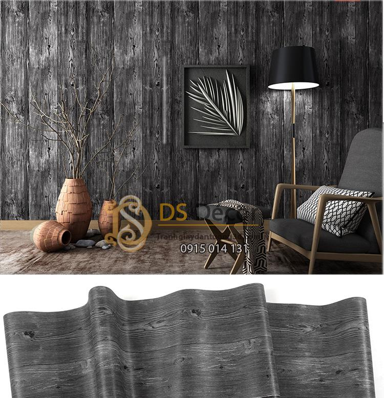 Giấy-dán-tường-giả-gỗ-3D103-màu đen