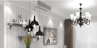 Giấy dán tường gỗ trắng phòng khách 3D089