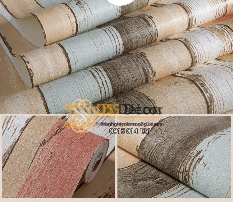Bề mặt Giấy dán tường giả gỗ retro cổ điển nhiều màu 3D074